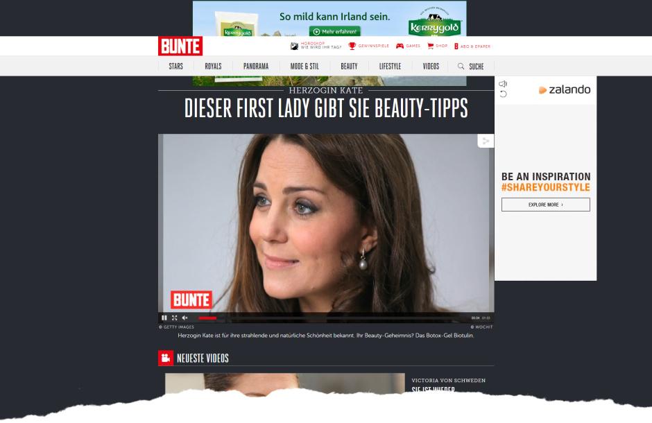 Zeitschrift Bunte - Videobericht Biotulin