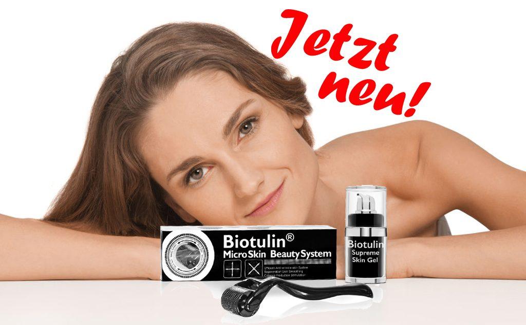 Größere Tiefenwirkung und eine vielfach stärkere Wirkung des Biotulin® Supreme Skin Gels durch das Biotulin® MicroSkin BeautySystem bei der Anwendung gegen Falten