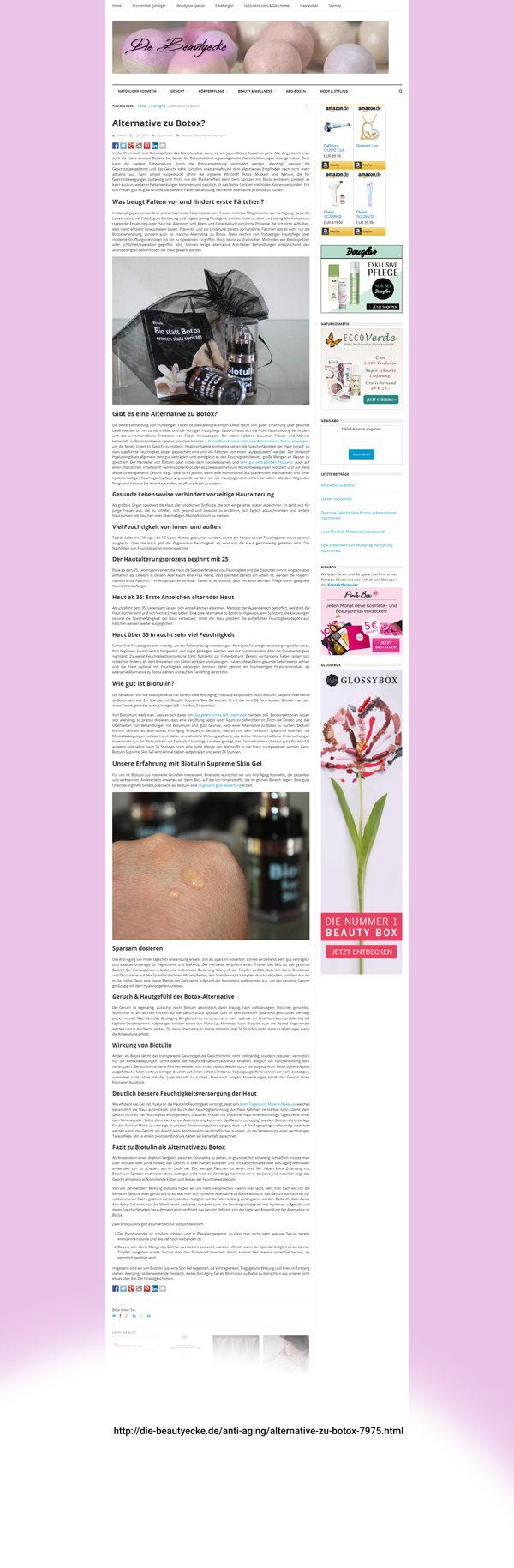 Biotulin Empfehlung Beautycecke