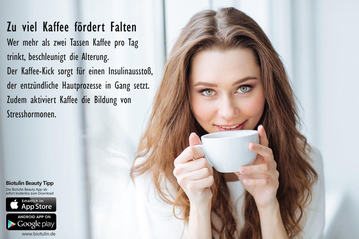 falten durch kaffeetrinken