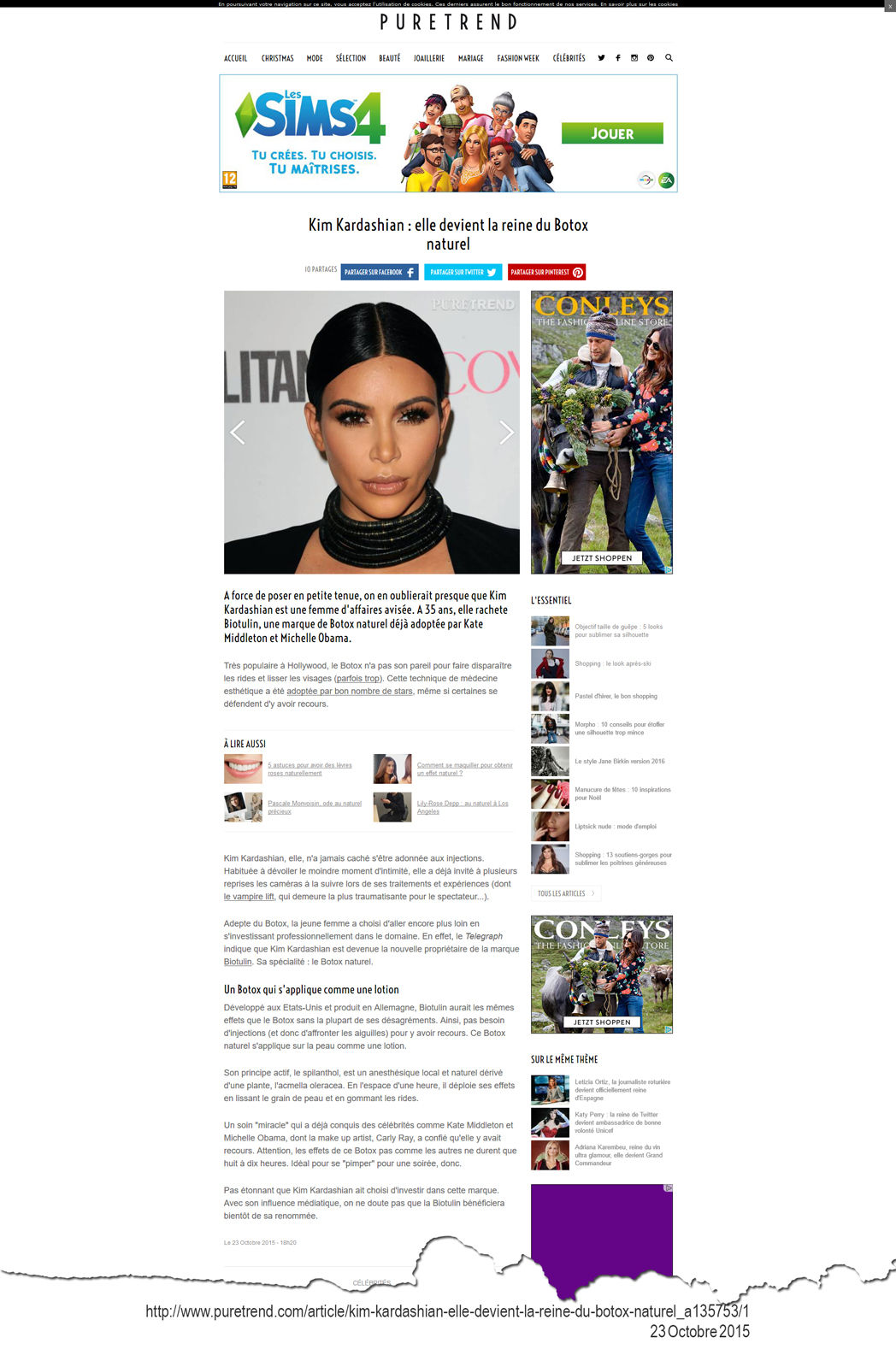 Kim Kardashian Biotulin